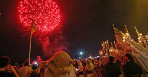 Fuegos artificiales en honor a la Virgen del Carmen en El Puerto de Santa María. / P.P.M.