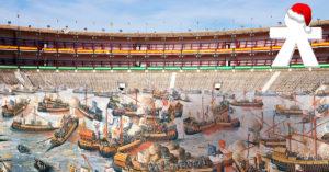 La supuesta recreación artística de cómo hubieran sido las batallas navales. / MAMBA.