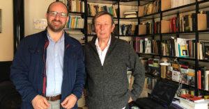 El alcaldable del PP, Germán Beardo, junto al catedrático Diego Ruiz Mata.