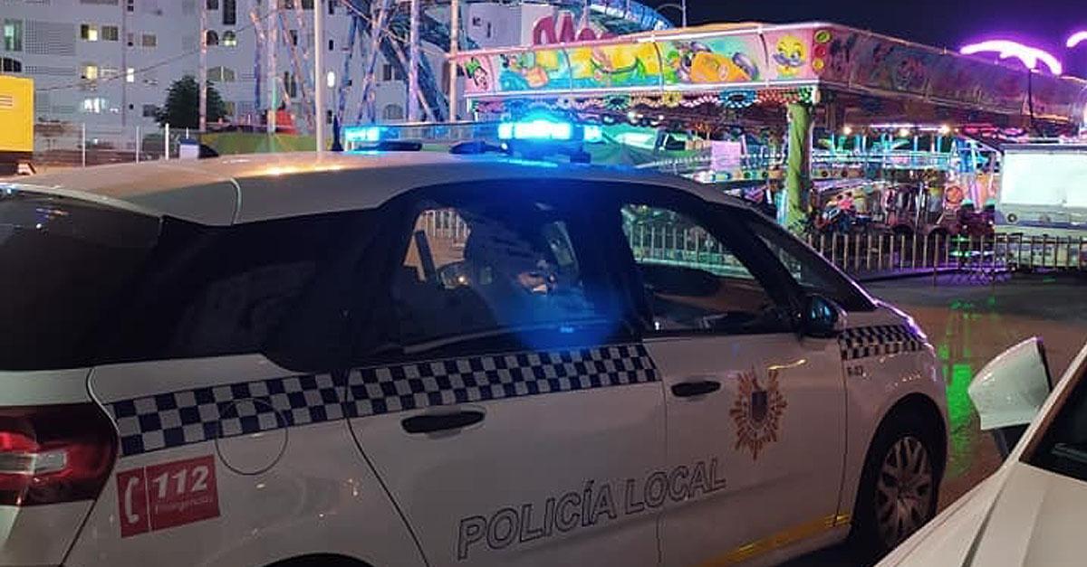 La Policía Local precinta las atracciones de Valdelagrana por falta de licencia