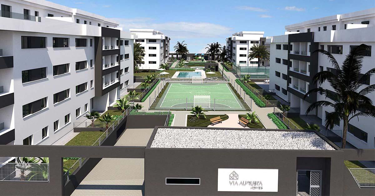 Avanzan a buen ritmo las obras de urbanización del Residencial Vía Augusta