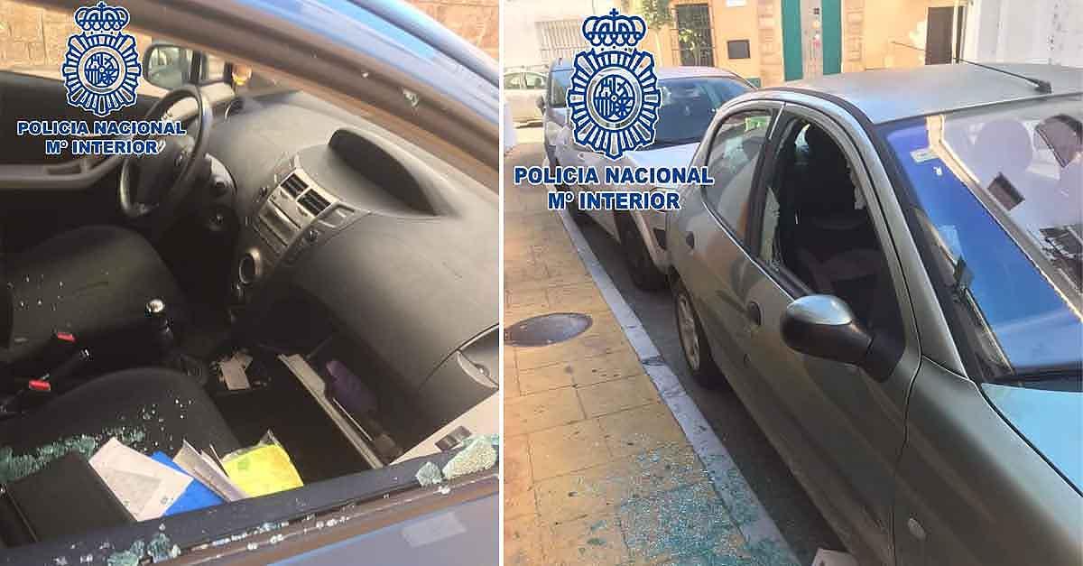 Cinco detenidos en El Puerto por robar en el interior de 17 vehículos