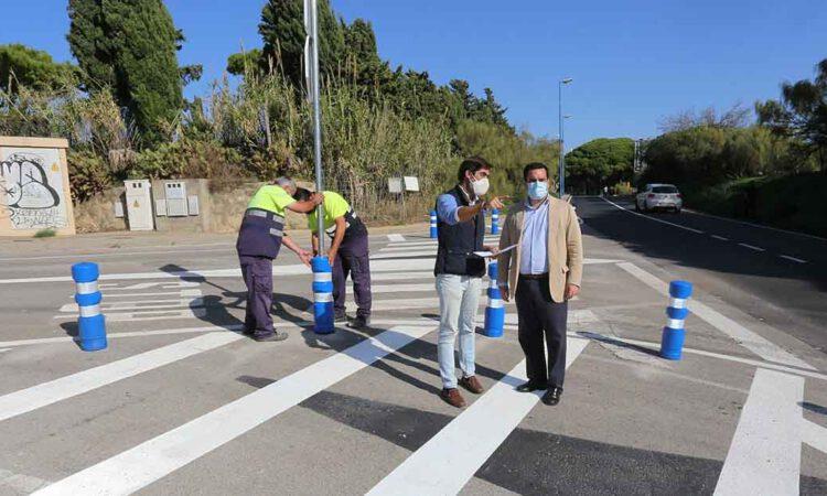 Finalizado el arreglo de la entrada de Puerto Sherry y mejora la seguridad vial