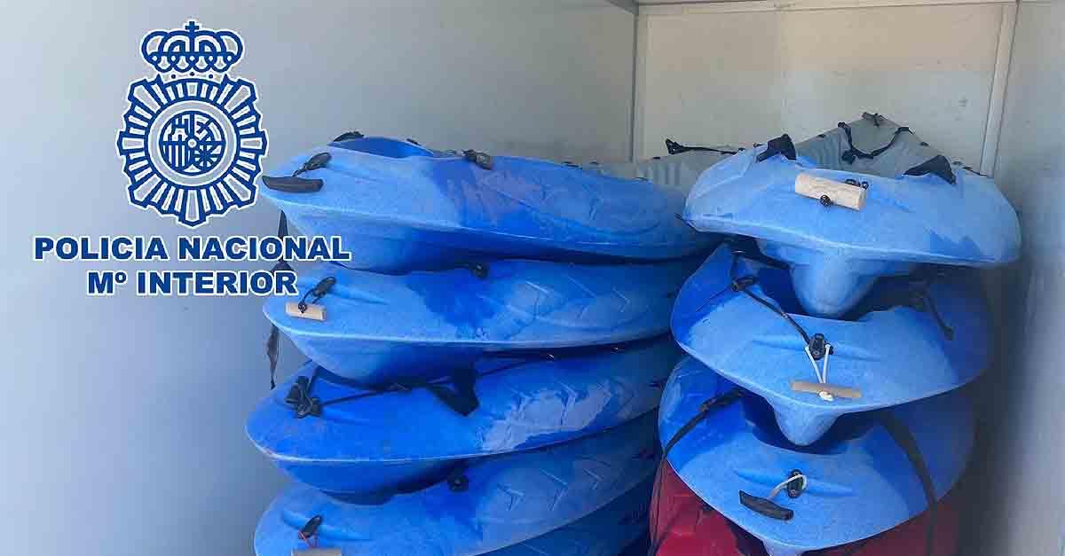 Detenidos los presuntos autores del robo con fuerza en un almacén de kayak en Valdelagrana
