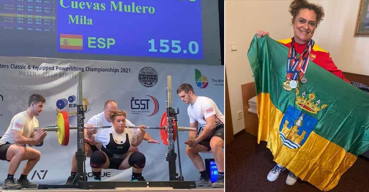 Mila Cuevas, campeona de Europa en levantamiento de pesas con máxima potencia