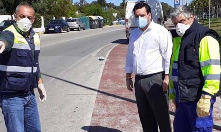 Instalados separadores en los carriles bici de carretera Sanlúcar y Puerto Sherry