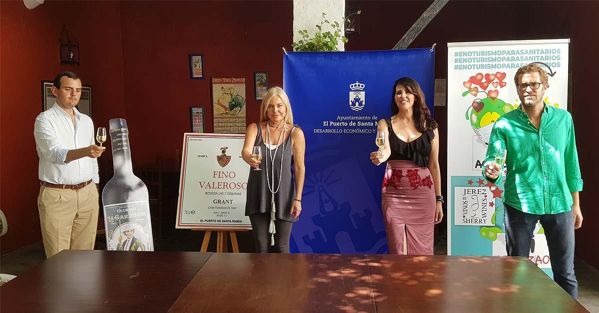 El mundo portuense del vino se une en agradecimiento a los sanitarios