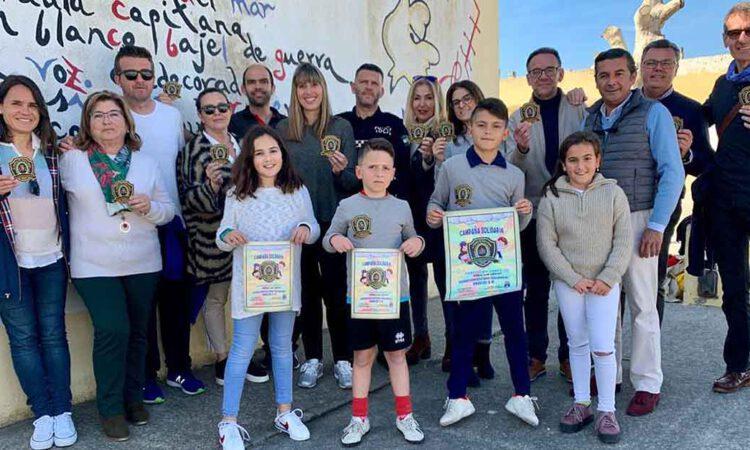 El CEIP Marqués de Santa Cruz se suma a los Escudos Solidarios de la Policía Local