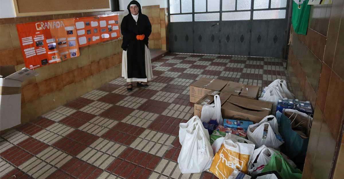 """""""Menipatch"""" hace una donación económica al convento del Espíritu Santo para la compra de alimentos"""