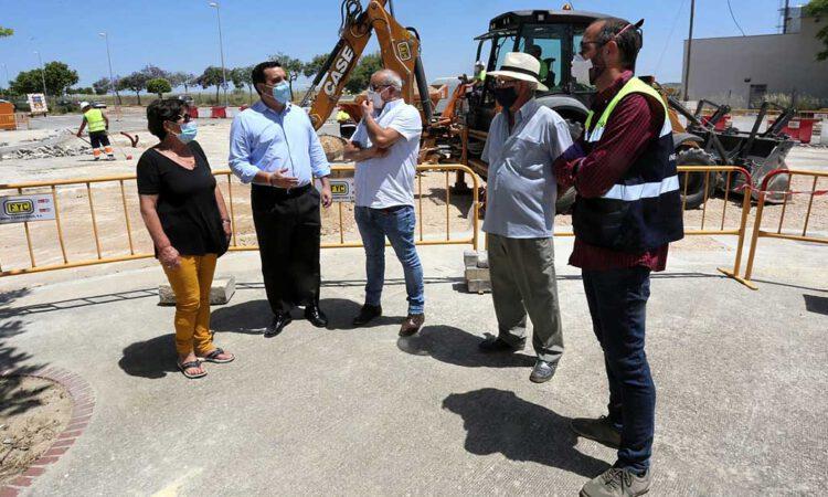 Las obras de construcción de la glorieta de Las Nieves se encuentran al 50% de ejecución