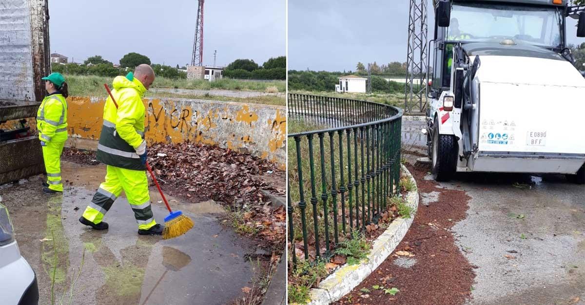 El Ayuntamiento realiza una limpieza integral del Recinto Ferial Las Banderas