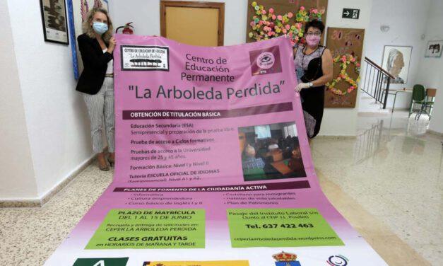 El centro de adultos La Arboleda Perdida abre su periodo de matriculación
