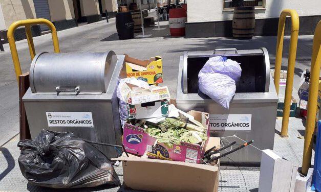 El PSOE denuncia que no se están recogiendo los residuos
