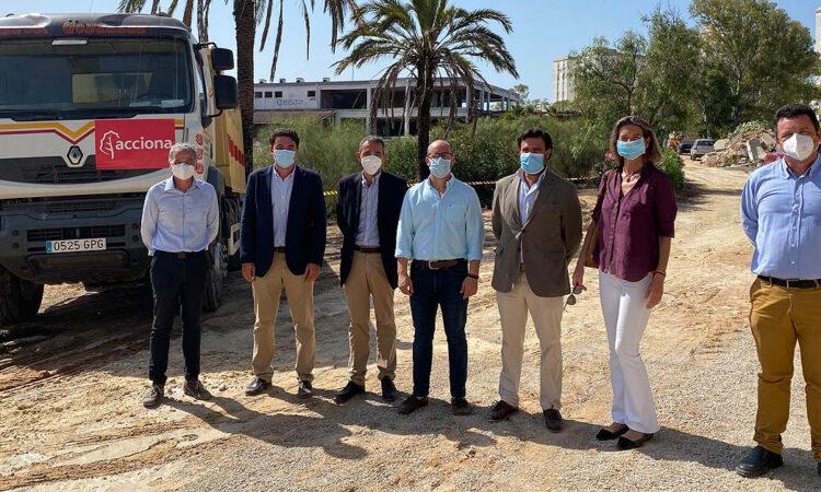 Comienzan las obras de urbanización del complejo turístico del Cangrejo Rojo