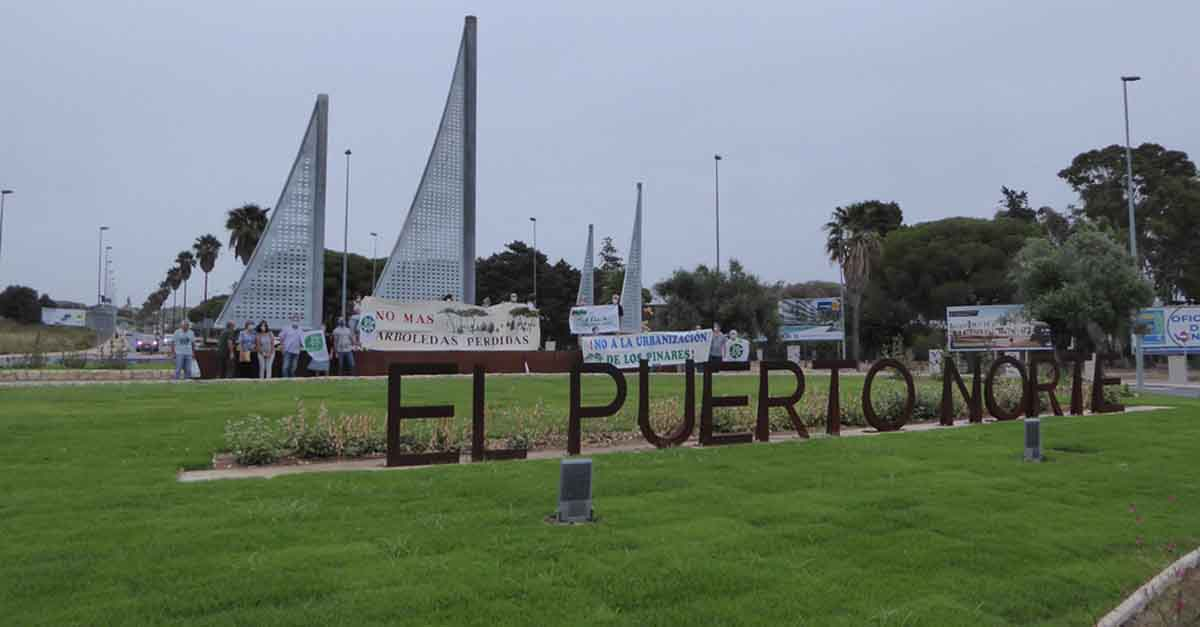 Ecologistas organizan una inauguración alternativa de la rotonda de Puerto Norte