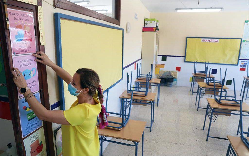 Andalucía registra siete centros escolares cerrados, uno más que el martes
