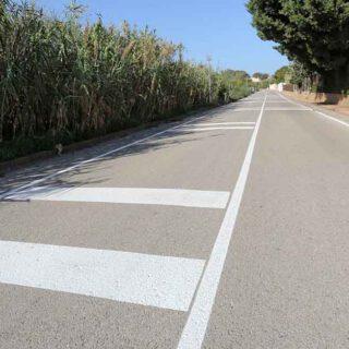 Pintado de la Hijuela del Tío Gilito para mejorar la seguridad vial