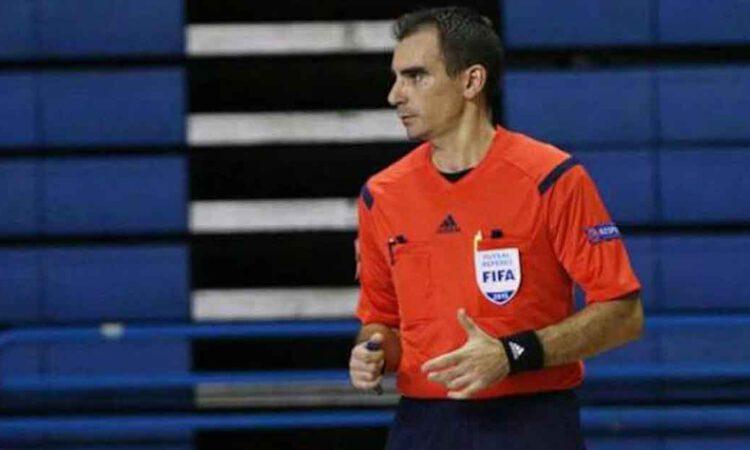 El árbitro portuense Cordero Gallardo, en la preselección para el Mundial de fútbol sala