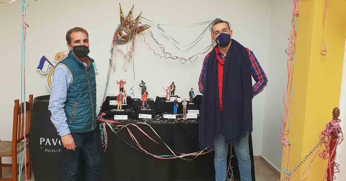 Exposición carnavalesca de Manuel Díaz, 'Lolo el bombero', en la Peña Madridista