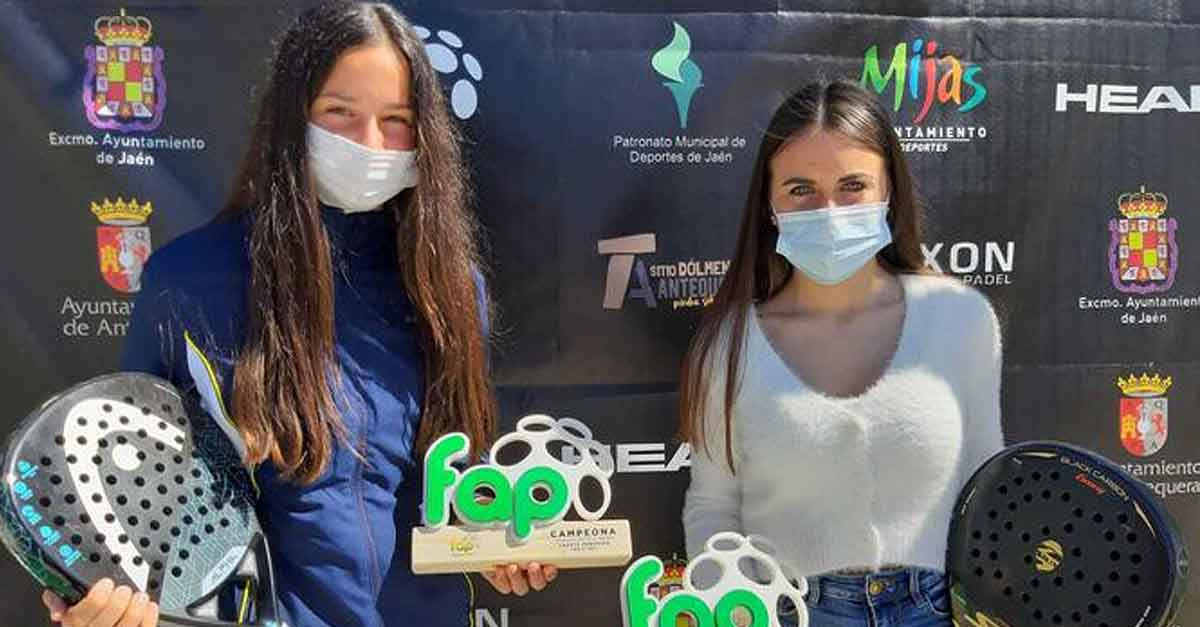 Julieta Alemán y Luna García se proclaman campeonas provinciales de pádel
