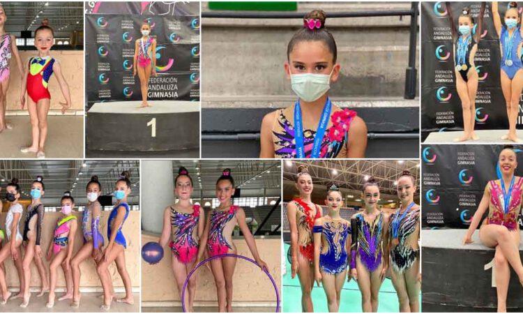 Lluvia de medallas para el Club Rítmica y Estética Alcanatif en San Fernando