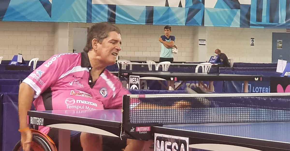 Gran actuación de Alfonso Álvarez en el Torneo Estatal de Antequera de Tenis de Mesa
