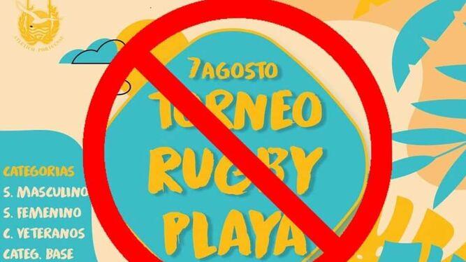 Cancelado el torneo de rugby playa anunciado para el 7 de agosto