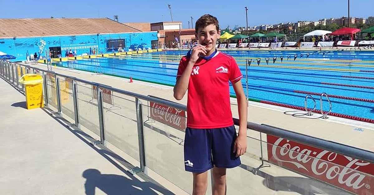 El nadador Nicolás Gilabert, tercer puesto a nivel nacional en 100 metros braza