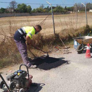 El Ayuntamiento inicia nuevas reparaciones de los socavones registrados en la APP Mejora El Puerto
