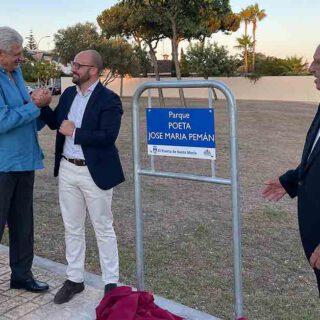 El Puerto rinde tributo a José María Pemán dedicándole un parque