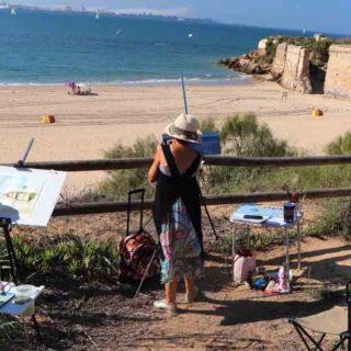 Pintando la Muralla y el Fuerte de Santa Catalina