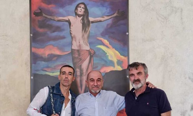 """Ricardo Carrero dona a El Puerto el cuadro de 'Costus' """"Retrato de Lourdes Galofré con Lala"""""""